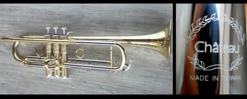 正台灣製  Chateau 白銅+黃銅 外銷世界名牌 小號 小喇叭