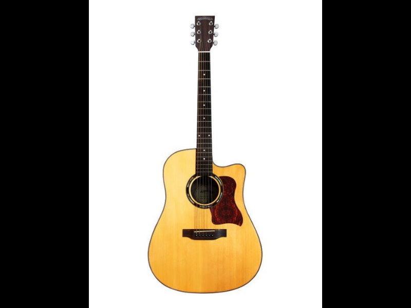Woodtone D-40C D40C 單板民謠吉他 附原廠超厚琴袋