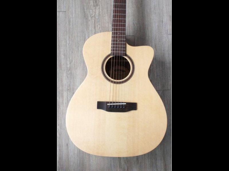woodtone OM30C 單板民謠吉他 附原廠超厚琴袋