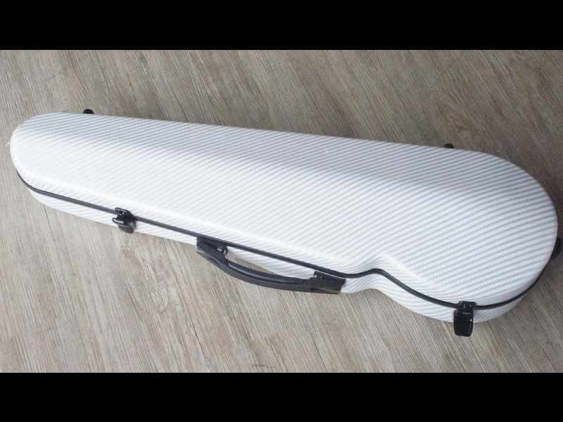 DIAMOND 碳纖維小提琴盒 白色網格紋
